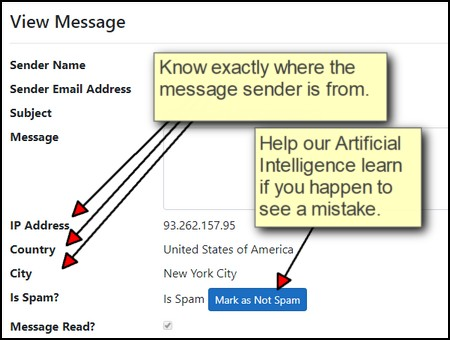 Location tracking for message sender